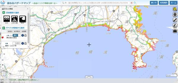 津波に備える|津波リスクマップ