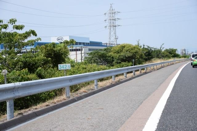 高速道路のキロポスト
